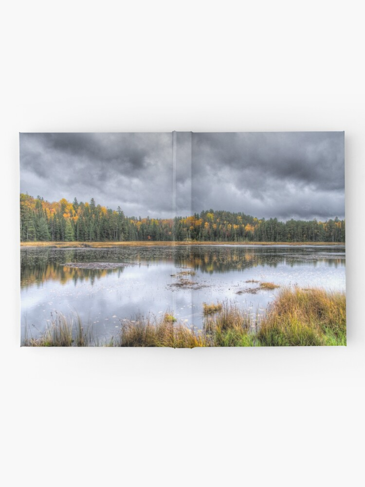 Alternate view of Overcast day over the pond Hardcover Journal