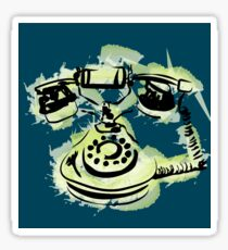 telephone shirt Sticker