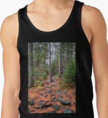 Rocky path through the pine forest Tank Top