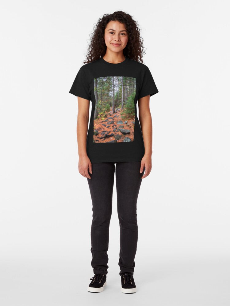 Alternate view of Rocky path through the pine forest Classic T-Shirt