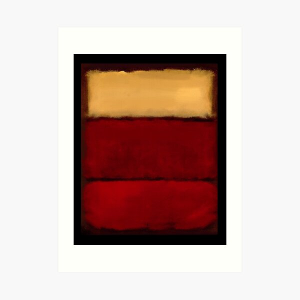 Mark Rothko art numériquement 1 Impression artistique