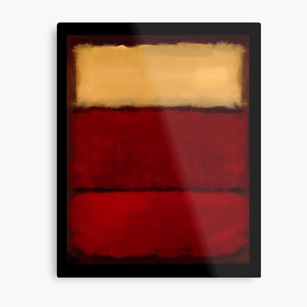 Mark Rothko arte digitalmente 1 Lámina metálica