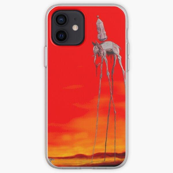 Pintura famosa de los elefantes de Dali Funda blanda para iPhone