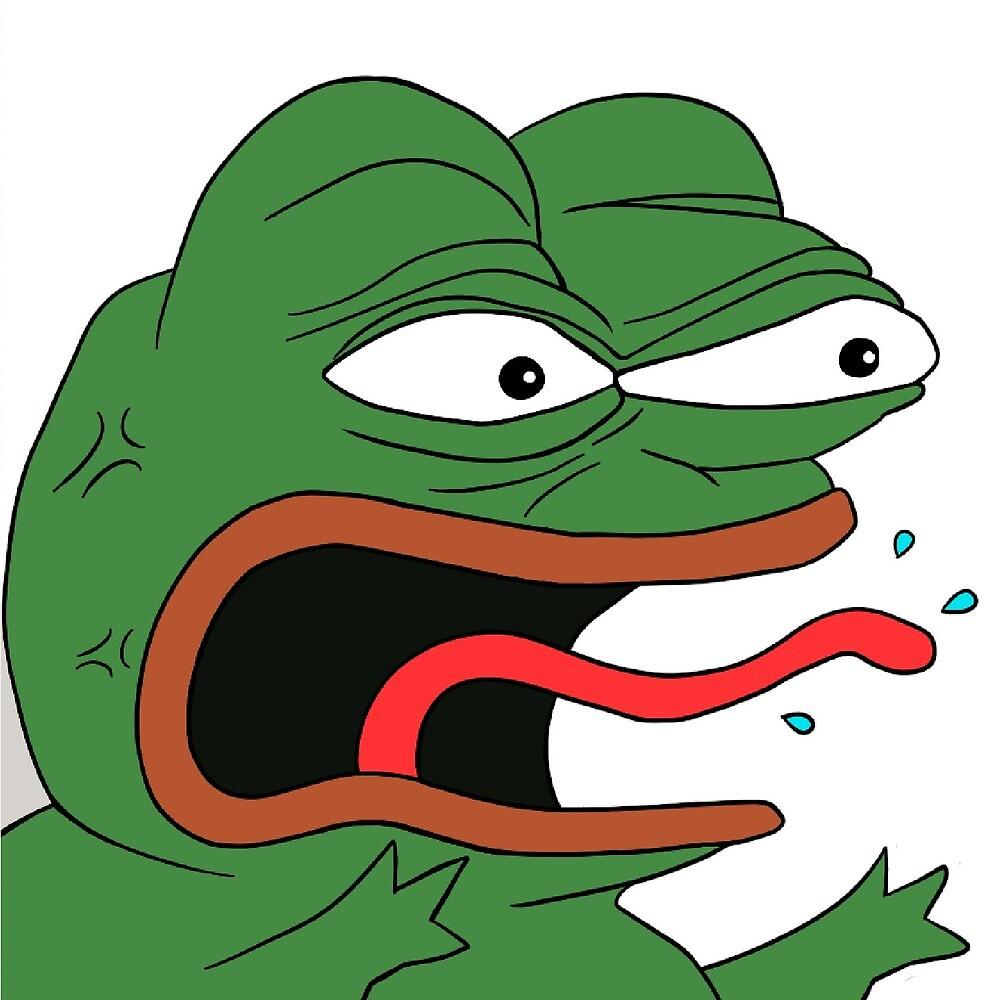 """Angry Pepe The Frog Meme (RARE)"" By Bitsnake"