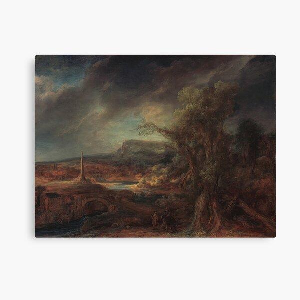 Landscape with an Obelisk 1638 Govaert Flinck Canvas Print