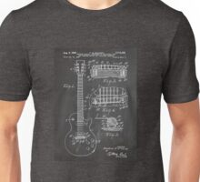 Gibson Les Paul  guitar us patent art 1955 blackboard Unisex T-Shirt