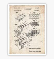 Lego Toy Blocks US-Patent Art Sticker