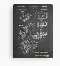 LEGO Construction Toy Blocks US Patent Art blackboard Canvas Print