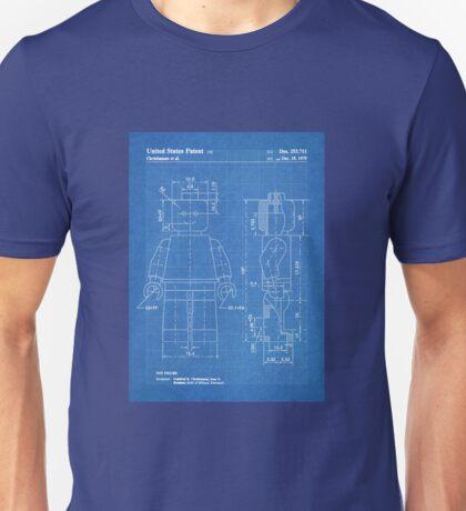 LEGO Minifigure US Patent Art Mini Figure blueprint Unisex T-Shirt
