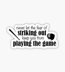 Striking Out Sticker