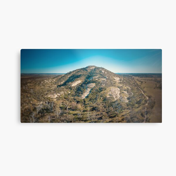 Mount Korong - Landscape Aerial Photography (Inglewood and Wedderburn) Metal Print