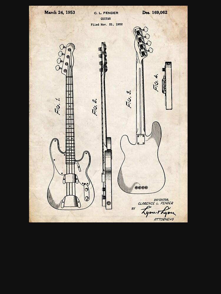 Fender Precision Bassgitarre US-Patent Art von geekuniverse
