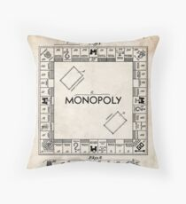 Monopoly Board Game US Patent Art 1935 Throw Pillow