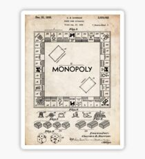 Monopoly Board Game US Patent Art 1935 Sticker