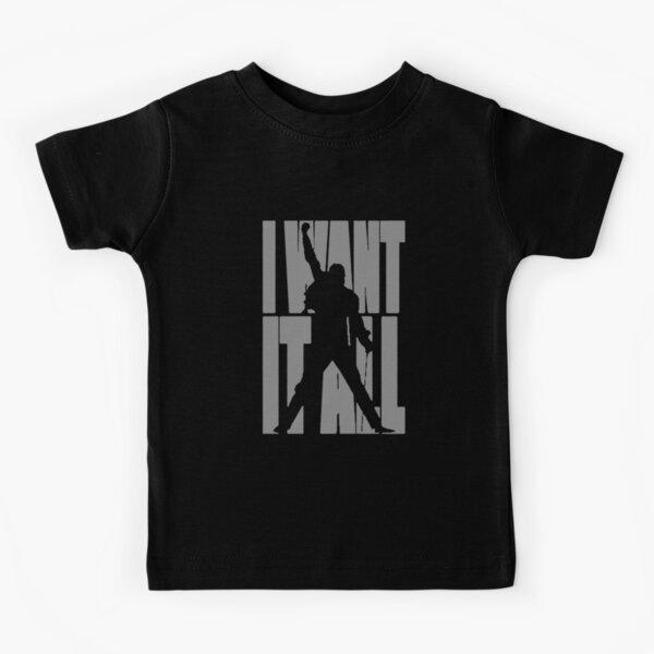 Freddie Mercury Gift, I Want it All, Queen Women_s 34 Sleeve Raglan Kids T-Shirt