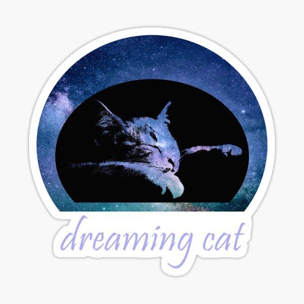 Dreaming Cat, dreaming cat Sticker