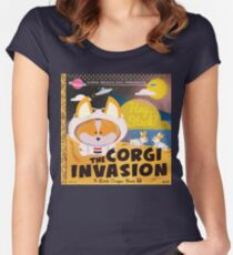 2016 - Corgi Invasion Women's Fitted Scoop T-Shirt