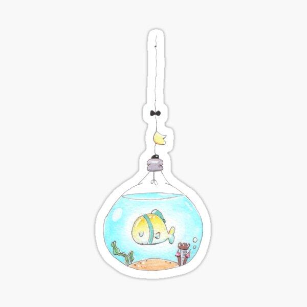 Lightbulb Fish (full image) Sticker