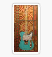 surf green tele Sticker