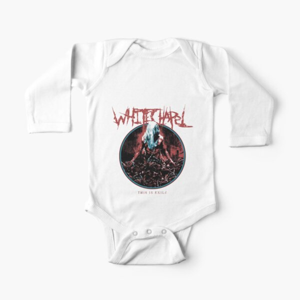 White chapel  Long Sleeve Baby One-Piece