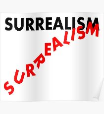 SURREALISM - Falling Text Poster