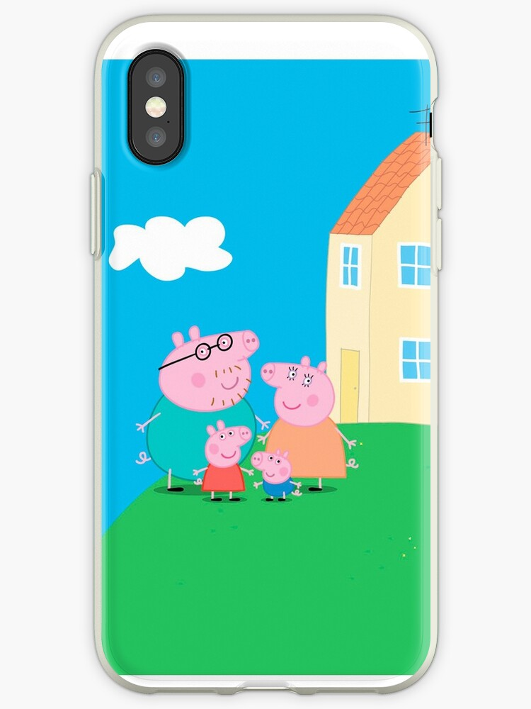 'Peppa Pig and Family' iPhone Case by Jangel Nolasco Garcia