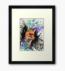 Fox of Many Colors Framed Print