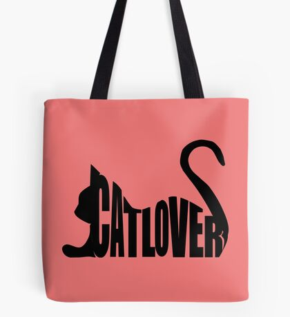 Cat Lover...Black Tote Bag