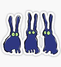 3 bunnies Sticker