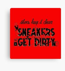 Typography : Sneakers Vs Shoes Canvas Print