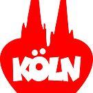 Köln Herz mit Kölner Dom von theshirtshops