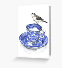 High Tea Double Barred Finch Greeting Card