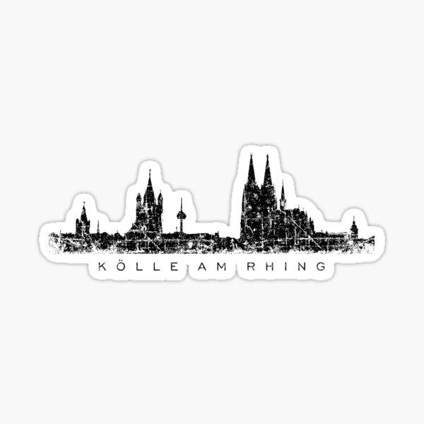 Kölle am Rhing Köln Skyline Sticker