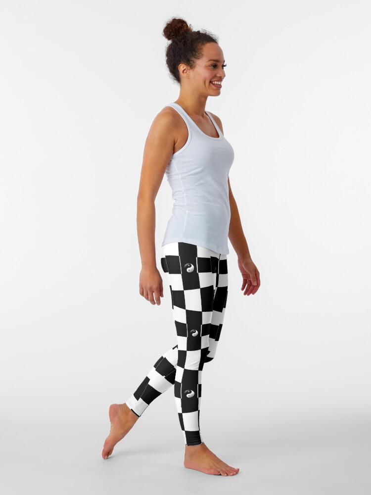 Alternate view of Black and white  Leggings