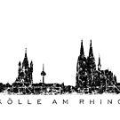 Kölle am Rhein Köln Skyline von theshirtshops
