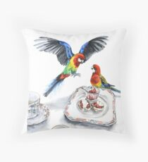 Twitcher's Tea Party Throw Pillow