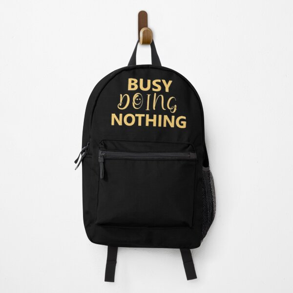 Busy Doing Nothing: Funny Christmas T-shirt Backpack