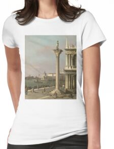 Canaletto Bernardo Bellotto - Bacino di S. Marco - From the Piazzetta  1750 Womens Fitted T-Shirt