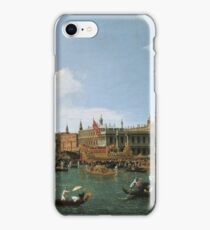 Canaletto Bernardo Bellotto - Return of  Il Bucintoro  on Ascension Day 1745-1750 iPhone Case/Skin