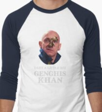 I Get A little Bit Genghis Khan Men's Baseball ¾ T-Shirt