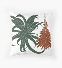 Aloe arborescens Throw Pillow