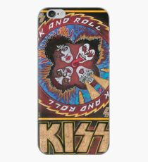 Vinilo o funda para iPhone Rock and Roll Kiss