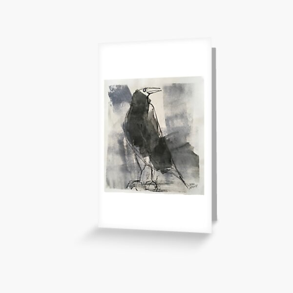 Big Black Bird Grußkarte