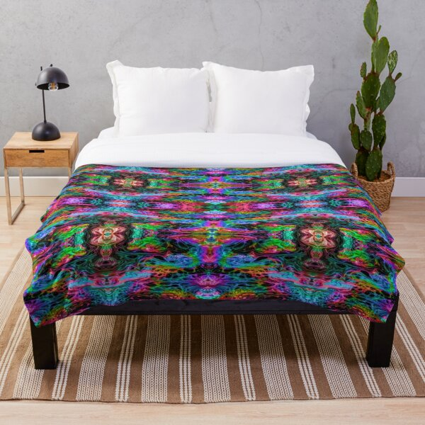 Psychedelic Art, Psychedelia, Painting Throw Blanket