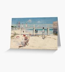 Charles Conder - A holiday at Mentone 1888 Australian Seascape Marine Greeting Card