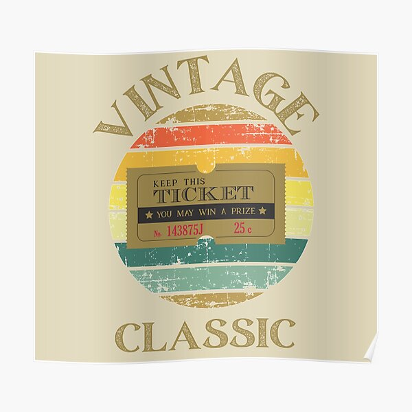 Classic Retro Vintage Coupon Ticket Poster