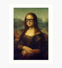 Hipster Glasses Mona Lisa - Leonardo da Vinci Art Print