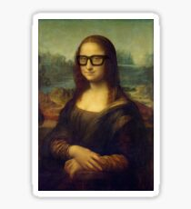 Hipster Glasses Mona Lisa - Leonardo da Vinci Sticker