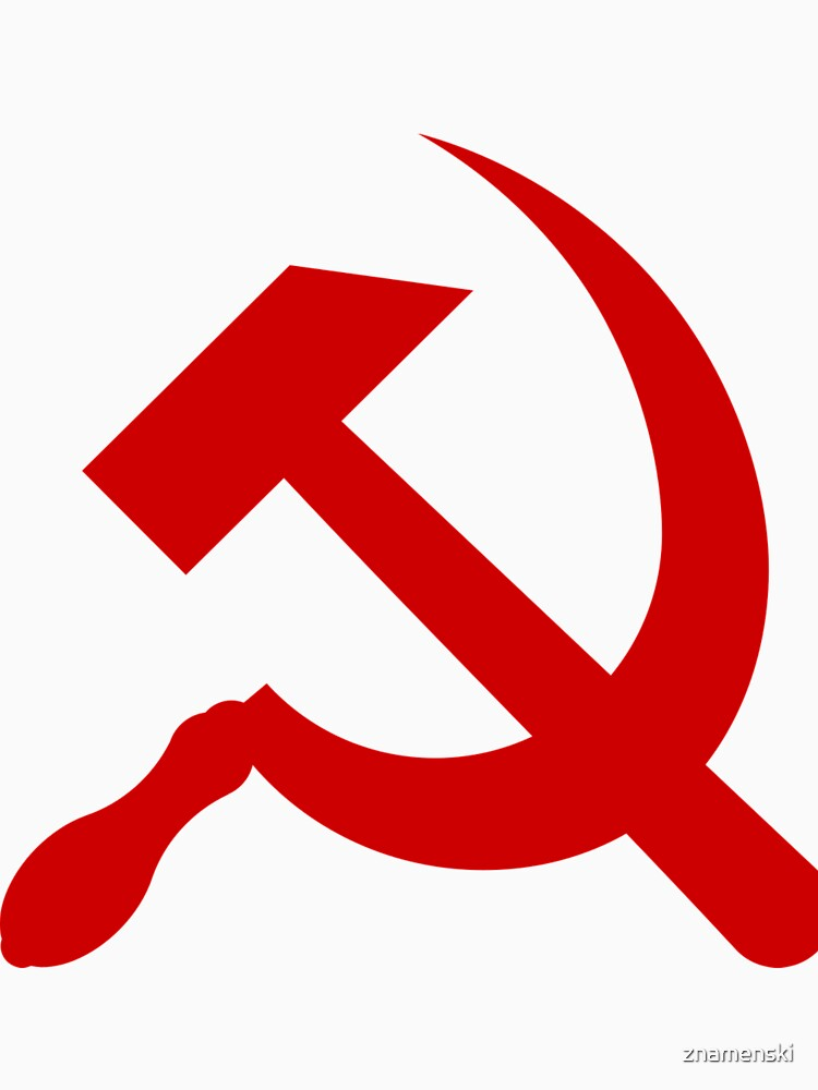 A red hammer and sickle design from the naval ensign of the Soviet Union by znamenski