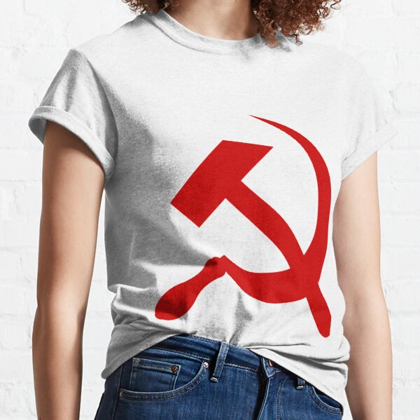 A red hammer and sickle design from the naval ensign of the Soviet Union Classic T-Shirt